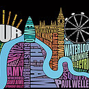 London Music Type Print Multicoloured