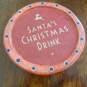 Santa's Christmas Drink Coaster - christmas decorations sale