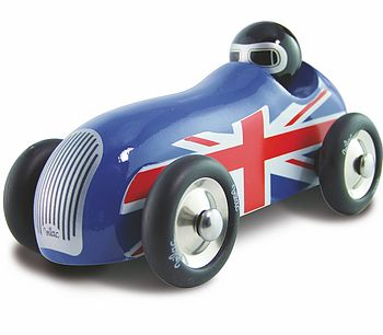 Union Jack Wooden Car