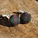 Country Gentleman Woollen Cufflinks