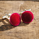 Silk Velvet Covered Cuff Links