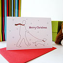 Dogs And Their Owners Christmas Card