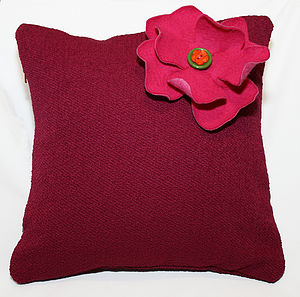 Hot Pink Flower Cushion Last One Left In Stock - living room