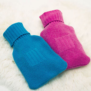 Pure Cashmere Hot Water Bottle Cover - cosy gifts