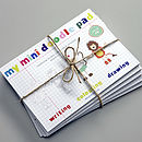 Pack Of Five Mini Doodle Pads