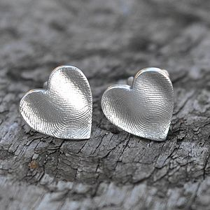 Fingerprint Heart Wedding Cufflinks