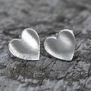 Silver Fingerprint Heart Wedding Cufflinks