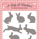 A Bag of Bunnies Stickers - Grey