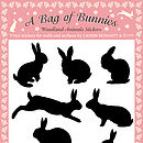A Bag of Bunnies Stickers - Black