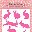 A Bag of Bunnies Stickers - Pink