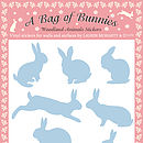 A Bag of Bunnies Stickers - Powder Blue