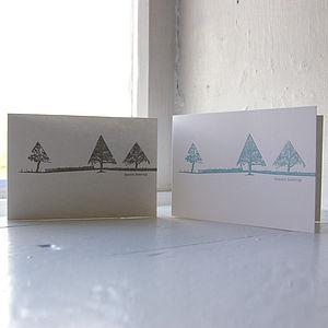 Letterpress Landscape Christmas Cards - cards