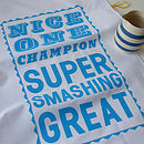 Super Smashing Tea Towel