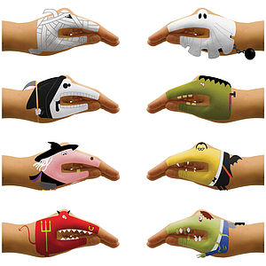Scary Halloween Hand Temporary Tattoos - fancy dress