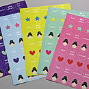 Girls Reward Chart Re Fill Stickers
