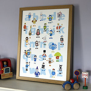Boy's Alphabet Nursery Poster