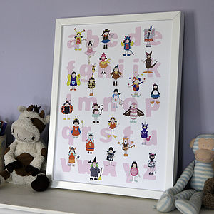 Girl's Alphabet Nursery Poster