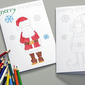 Christmas Colouring In Card For Kids