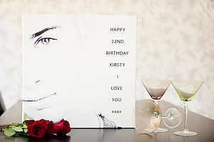 Personalised Photo & Message Canvas - art & pictures