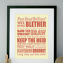 Personalised Scottish Sayings Art Print