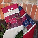 Silk And Linen Christmas Stocking