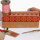 Set Of Five Festive Ribbon Gift Wrap