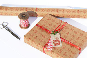 Set Of Five Jolly Robin Giftwrap Sheets - cards & wrap