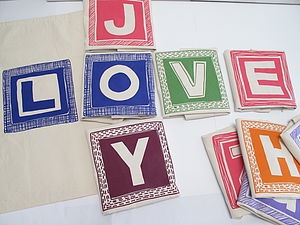 Alphabet Personalised Letter Sack