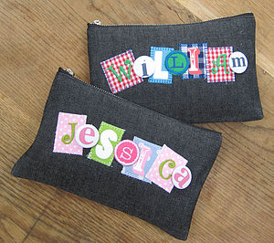 Personalised Denim Pencil Case - pencil cases