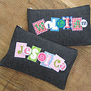 Personalised Denim Pencil Case