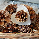 Heart Shaped Cinnamon Pine Cone Firelighters