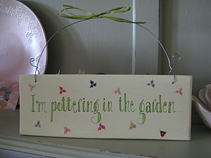 Garden Sign - art & decorations