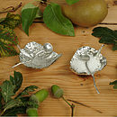 Pewter Leaf Bowl And Spoon