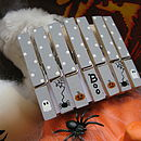 Handpainted Halloween Decoration Pegs