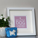 Pet Quote Framed Print