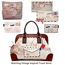 Vintage Travel Inspired Satchel