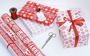 White Christmas Wrapping Paper Set - gift wrap sets