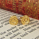 Gold Plated Rose Earrings