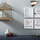 Set Of Four White Noticeboards