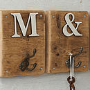 Rustic Wooden Letter Hook Natural