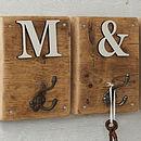 Rustic Wooden Letter Hook Natural