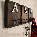 Rustic Wooden Letter Hook Dark Oak