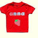 Girl's personalised Applique T Shirt (red)