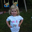 Girl's Personalised Applique T Shirt