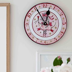Personalised Mousie Ballerina Clock - clocks