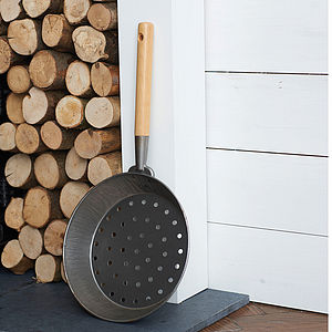Personalised Chestnut Roasting Pan - fireplace accessories