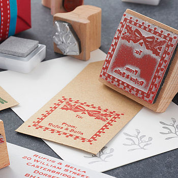 Personalised Gift Tag Rubber Stamp