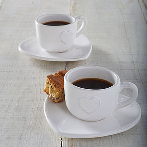 Set Of Two Heart Espresso Cups - cool kitchen accessories