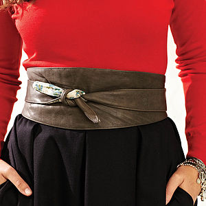 Ethical Leather Sash Belt-4 Colours
