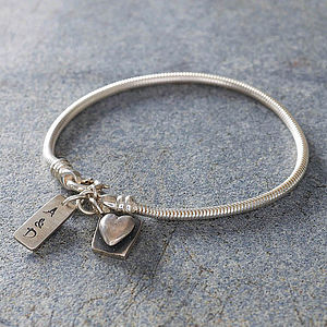 Personalised Heart Bracelet - autumn jewellery
